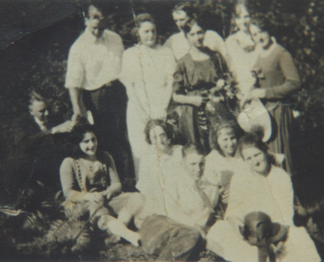 Emma Kaser's wedding day, all cousins except the Kaufman brothers.